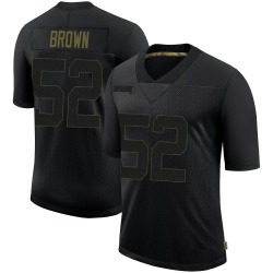 Men's Zach Brown Philadelphia Eagles 2020 Salute To Service Jersey - Black Limited